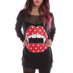 Iron Fist Loose Lips Sweater looks comfy and reminds me of rocky horror picture show
