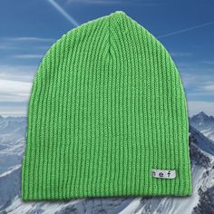 28a9ac7172e Here is some excitement to your outfit with this Neff Daily Slime Green  Beanie. The