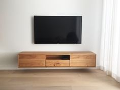 Custom Timber Floating Entertainment units Made in Melbourne by Kithe Wall Mounted Entertainment Unit, Wall Mounted Tv Unit, Floating Entertainment Center, Floating Wall Unit, Floating Tv Cabinet, Hanging Tv On Wall, Tv Unit Furniture, Tv Wall Decor, Melbourne