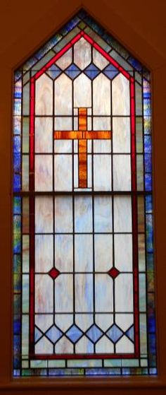 Stained Glass Windows at Wakelon Baptist Church in Colerain, NC