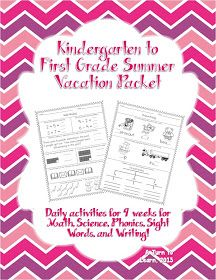 Turn to Learn: Summer Daily Worksheets for Kindergarten Students ...
