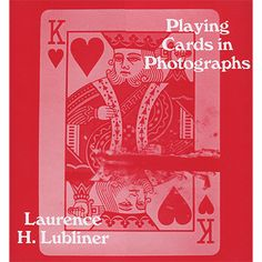 Playing Cards in Photographs by Laurence Lubliner - From the ridiculous to the sublime - and everything in between - this book showcases hundreds of historic, funny, fun, and fascinating appearances of the lowly playing card in a range of fascinating vintage and contemporary photographs. They appear in games worldwide, of course. But take a moment to minutely ... get it here: http://www.wizardhq.com/servlet/the-16677/playing-cards-in-photographs-by-laurence-lubliner/Detail?source=pintrest
