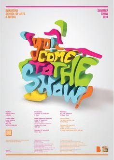 Design, Illustration & 3D / Summer Show 2014 Poster