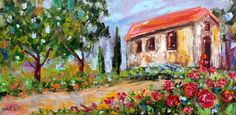 Original oil painting The Colors of Italy by Karensfineart on Etsy