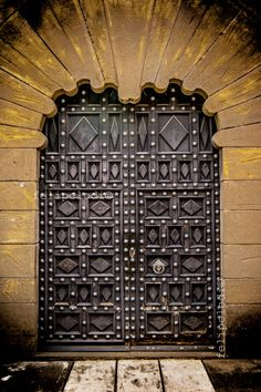 Barcelona, Spain - I often wonder what lurks behind glorious doors like this.