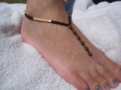 beaded barefoot sandal beach sandal thong sandal