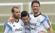 Javier Mascherano, Fernando Gago y Martin Demichelis