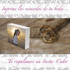 Aprovecha e imprime las fotos de tu boda y te regalamos un insta-cubo para que lo coloques en tu buroe o sobre alguna mesita :D --> www.insta-arte.com.mx