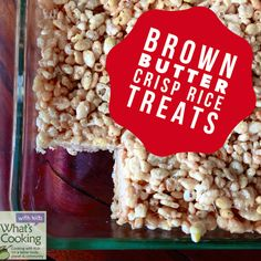Brown Butter Crisp Rice Treats - an easy kid-friendly recipe by What's Cooking with Kids