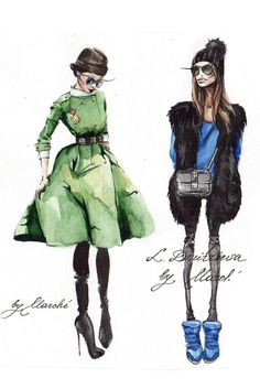 Fashion Illustration by marche