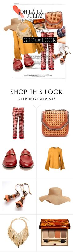 """""""Untitled #133"""" by pesanjsp ❤ liked on Polyvore featuring F.R.S For Restless Sleepers, STELLA McCARTNEY, Gucci, Kaelen, Old Navy, Steve Madden and Clarins"""