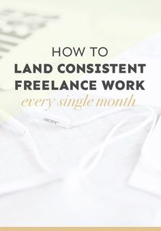 How to Land Consistent Freelance Work Every Single Month ---> Do you struggle to land consistent freelance work every single month? In this detailed post (it's a whopping 3,000 words!), I show you how you can create a community that will help you land work over and over again. // Wanderful World