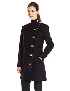 Rachel Zoe Womens Vince Coat Black Small * Check out the image by visiting the link. (This is an affiliate link) Black Military Jacket, Military Style Jackets, Coats For Women, Jackets For Women, Military Inspired Fashion, Army Coat, Ted Baker Womens, Rachel Zoe, Jacket Style