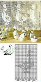 Letras e Artes da Lalá: Cortinas de crochê. Fotos: google. Tulip, Diy And Crafts, Pasta, Japan, Google, Home Decor, Handmade Crafts, Fine Art, Kitchen