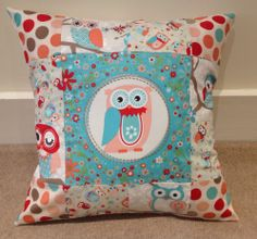 Owl cushion cover - The Supermums Craft Fair