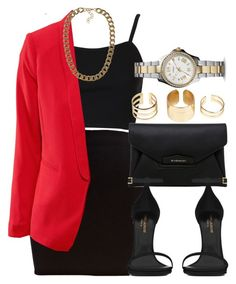 """""""Style #6322"""" by vany-alvarado ❤ liked on Polyvore featuring River Island, Topshop, Givenchy, H&M, Yves Saint Laurent, Boohoo, FOSSIL and NLY Accessories"""
