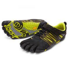 Vibram Fivefingers V-Train schwarzgrün Ein idealer Trainings- und Fitnessschuh, sowohl draußen als auch drinnen. Die spezielle Sohle bietet auch bei Seitwärtsbewegungen hervorragenden Halt.