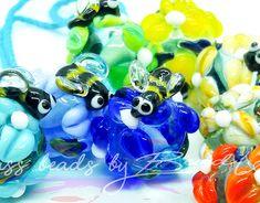Glass beads by Bead Up - Beads Glass Beads, Bee, Creative, Garden, Handmade, Hand Made, Crystal Beads, Garten, Gardening