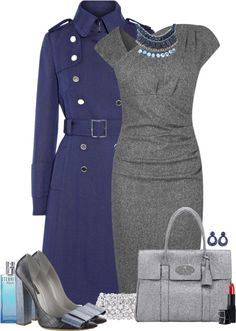 """Dresses up cinza"" by sil-engler on Polyvore"