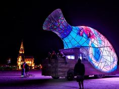 Powerful Sculpture At Burning Man Shows Inner Children Trapped - Thought provoking burning man sculpture shows inner children trapped inside adult bodies