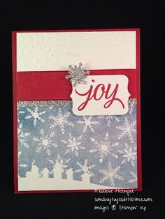 So Many Toys So Little Time...Stampin Up! Sleigh Ride, Slowly Falling, Season of Cheer, Your Presents, Holiday