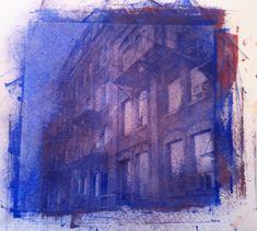 Niagara Street blue - Silk Screen - Toronto - 2012