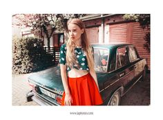by Laura Norinkevičiūtė (www.laphotto.com) #laphotto #photography #art #girl #modern #fashion #high #skinny #legs #young #street #car #drive #red #skirt #blue #mint #vintage #old #portrait #blond