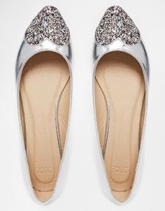 11eaf2e0a6b8 ASOS LONG FOR Pointed Ballet Flats at asos.com