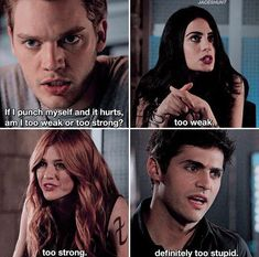 Mortal Instruments Funny, Immortal Instruments, Shadowhunters The Mortal Instruments, Clary Und Jace, Alec And Jace, Clary Fray, Isabelle Lightwood, Alec Lightwood, Jace Wayland