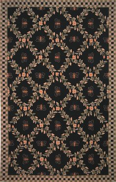 Chelsea Collection Hand Hooked Bee Wool Area Rug