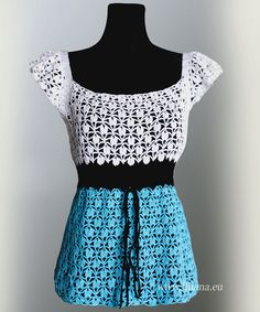 Crochet pattern .  Blouse . Dress. No 241 by Illiana on Etsy