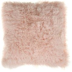 Bloomingville Mongolian Lambswool Cushion - Nude ($164) ❤ liked on Polyvore featuring home, home decor, throw pillows, pillows, pink, pink toss pillows, pink accent pillows, bloomingville, pink throw pillows et pink home decor