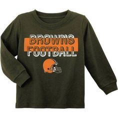 NFL Cleveland Browns Toddler Long Sleeve Tee, Toddler Boy's, Size: 18M, Brown