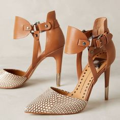 Shoespie Snake Pattern Buckles Stiletto Heels