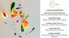 Dalla Gran Carte del Menu Estivo, il White Gourmet Restaurant propone i suoi Secondi Piatti  Per Info e Prenotazioni:  Tel. +39 080 8870111  Email: info@borgobianco.it www.borgobianco.it