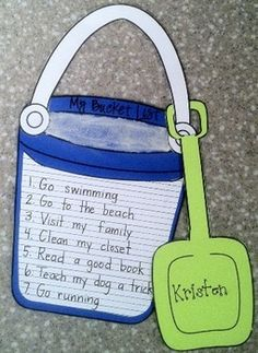 End of the Year Writing Prompt- My Bucket List- this would be awesome in the girls' summer scrap book