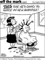 hair dresser stylist beautician cut style beauty parlor humor