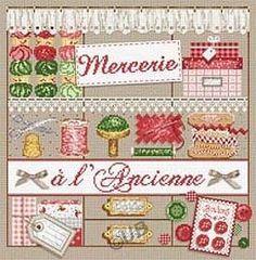 Grille, kit- Mercerie à l'ancienne grille ou kit de Madame la Fée