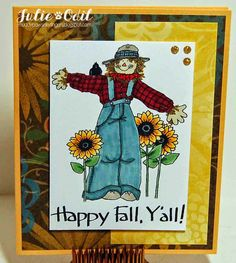 Happy Fall Y'all! for Eureka Stamps