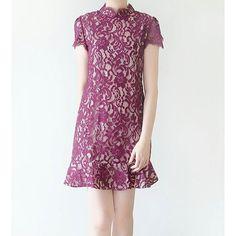 Violet Dress CNY 2017 #libbyclothing #evvel #evvelbylibby #cnycollection #cny2017 #cheongsam #lacecheongsam #qipao #lacedress #cocktaildress #eveningdress