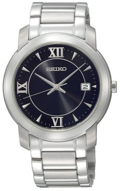 Seiko Men's SGEE95 Dress Black Dial Watch