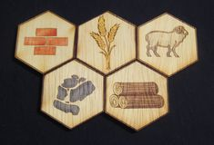 A custom game board created for personal use. Catan Board Game, Board Games, Dremel, Hobbies And Crafts, Diy And Crafts, Settlers Of Catan, Board Game Design, Modern Games, Diy Games