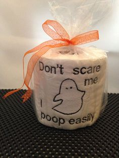 BOOty Wipes Embroidered Toilet Paper by CRCBootique on Etsy, $6.00