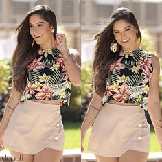 love the buttons on the skirt. Sexy Outfits, Summer Outfits, Casual Outfits, Cute Outfits, Fashion Outfits, Mode Kylie Jenner, Cute Dresses, Short Dresses, Girl Fashion
