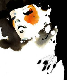 artwork by Ekaterina Koroleva.  Brilliant use of contrast, shape, and color.  xox
