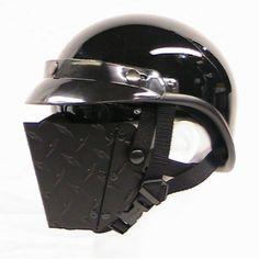metal motorcycle face mask
