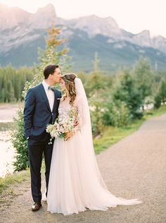 Magical Mountain Elopement in The Rockies, Once Wed. Hayley Paige gown.