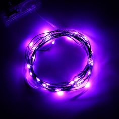 Purple Soft Wire LED Light String 2m 20 LED Bulbs Indoor String Light Outdoor Rope Lights 3 AA Batteries ARE HERE  for my Steampunk Ball Gown on the inner bottom trim.