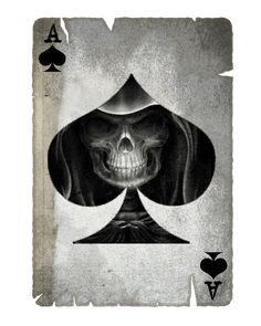 Ace of Spades Mr Cartoon Tattoo, Destiny Tattoo, Ace Of Spades Tattoo, Evil Skull Tattoo, Spade Tattoo, Aces And Eights, Weird Drawings, Pirate Tattoo, Skull Art