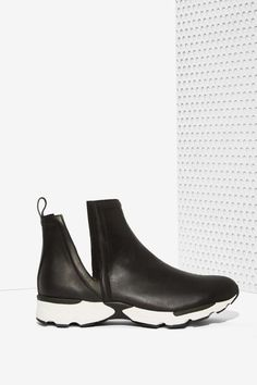 Jeffrey Campbell Obrien Leather Sneaker - Sale : Off Sale Sneaker Boots, Bootie Boots, Shoe Boots, Leather Ankle Boots, Leather Sneakers, Mode Shoes, Sneakers For Sale, New Shoes, Women's Shoes